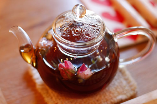 Rose Kitchen + Cafeのローズウーロン茶