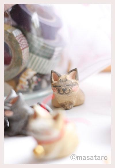 印鑑立て:シャム猫?