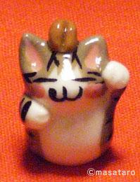 猫ストラップ:キジトラ猫