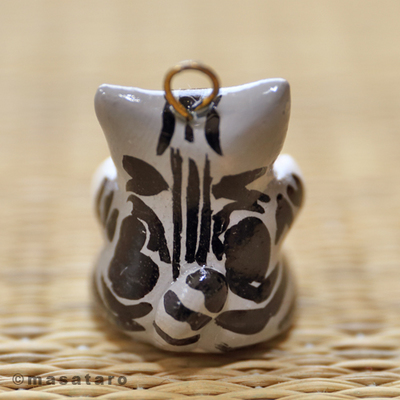 カラフルハートの猫チャーム★アメショー