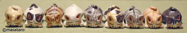 オーブン陶芸粘土作品 猫